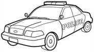 Transportation Police Car Coloring Page