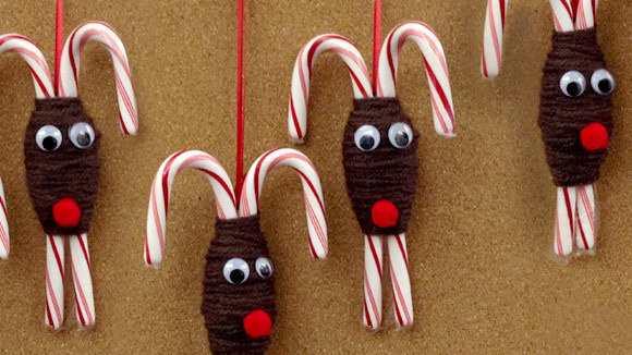 Candy Cane Reindeer Ornament - Grandparents.com