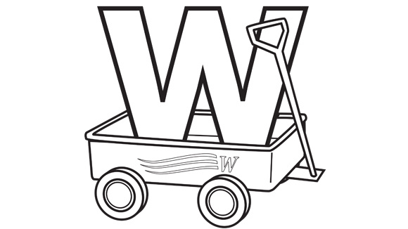 Alphabet series w wagon for Wagon coloring pages