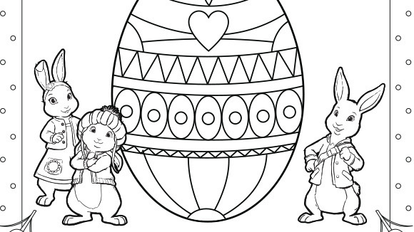 Peter Rabbit Coloring Pages #1