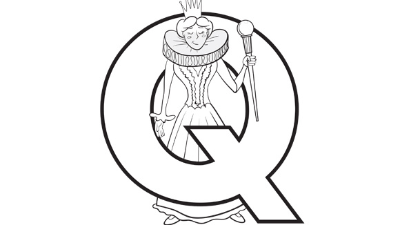 Print this color...Q Is For Queen Coloring Pages