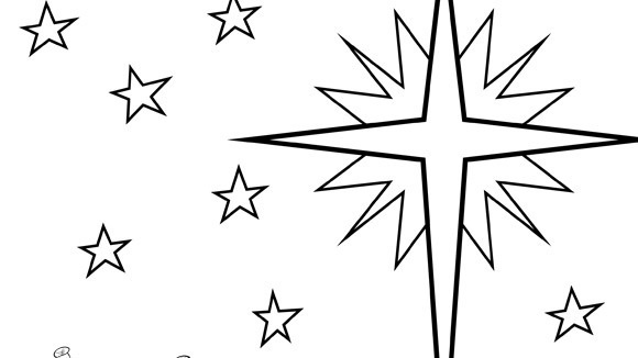 Christmas series star of bethlehem for Christmas star coloring page