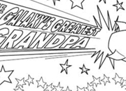 Galaxy's Greatest Grandpa Coloring Page Certificate