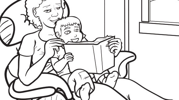 Grandparents day series story time with grandma for Grandmother coloring pages