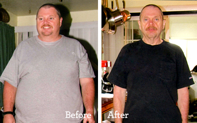 Image of Brian Collins weight loss, before and after