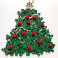Puzzle Piece Christmas Tree