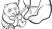 Baby Panda Coloring Page