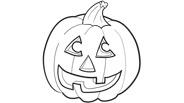 Jack-O-Lantern Halloween Coloring Page