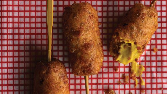 Andouille Corn Dogs Recipe — Dishmaps