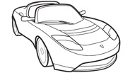 Transportation Sports Car Coloring Page