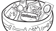 Candy Bowl Halloween Coloring Page