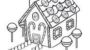Christmas Coloring Page: Gingerbread House