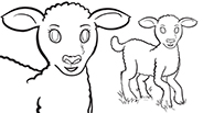 Lamb: Easter Coloring Page