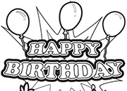 happy birthday sign coloring page