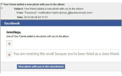 facebook photo scam