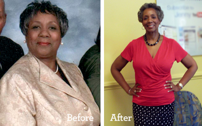 Image of Claudia Rhen weight loss, before and after