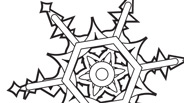 Winter Coloring Page: Snowflake