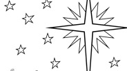 Christmas Coloring Page: Star of Bethlehem