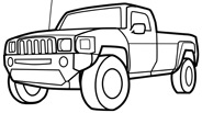 Transportation Pickup Truck Coloring Page