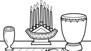 Kwanzaa Coloring Page: Kwanzaa Table