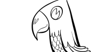 Pirate Parrot | Pirate Coloring Page