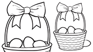 Easter Basket: Easter Coloring Page