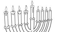 Chanukah Coloring Page: Menorah