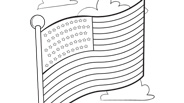 4th of July Coloring Page: American Flag