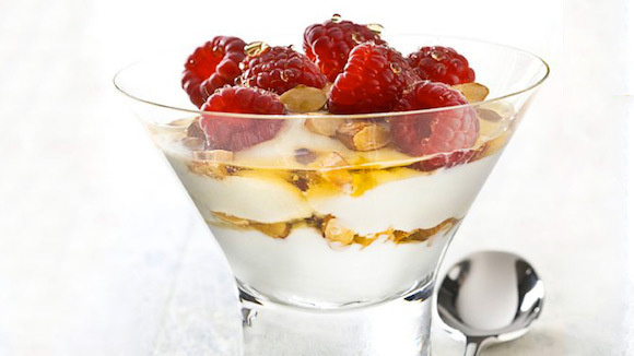 Greek Yogurt (Yiaourti) With Chopped Nuts and Honey