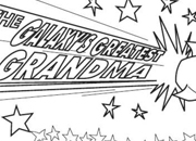 Galaxy's Greatest Grandma Coloring Page Certificate