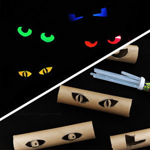 glowing eyes - Cheap Halloween Crafts