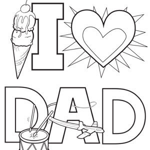 Your father 39 s day survival kit for Father and daughter coloring pages