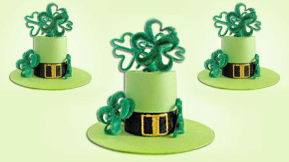 St Patricks Day Crafts Leprechauns Hat Centerpiece on Paper Plate Grandparents Day Craft