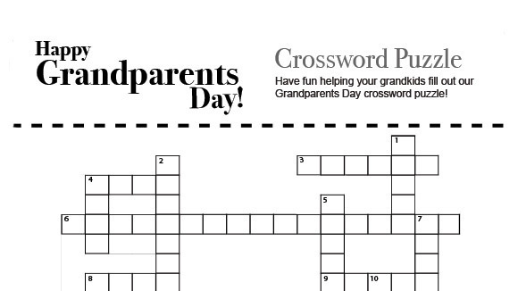 Grandparents Day Crossword Puzzle - Grandparents.Com