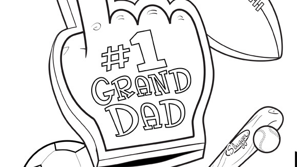 1 granddad for Fathers day coloring pages for grandpa