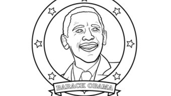 Barack obama for Black history printable coloring pages