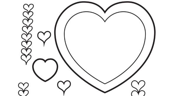 Valentine 39 s day series hearts for Heart coloring pages for valentines day