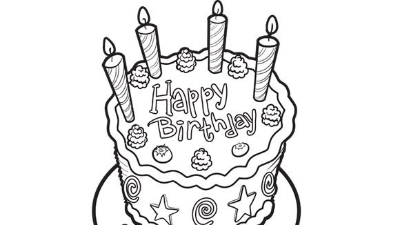 Who Doesnt Love Birthday Cake Try This Free Printable Coloring Page For Your Grandchilds