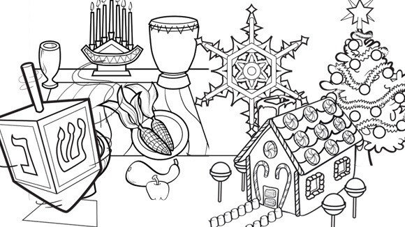 Celebrate The Season By Coloring These Pictures Together