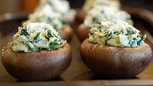 Spinach Goat Cheese Stuffed Mushrooms - Grandparents.com