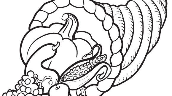 nate bear print this coloring page - Cornucopia Coloring Page
