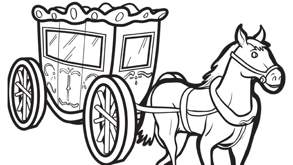 horse carriage coloring pages - photo#1