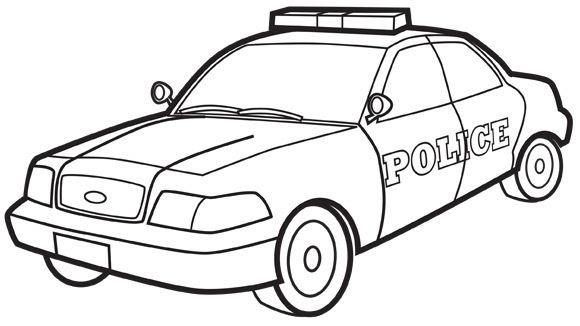 your grandkids will come to the rescue with this police car coloring page - Car Coloring Page
