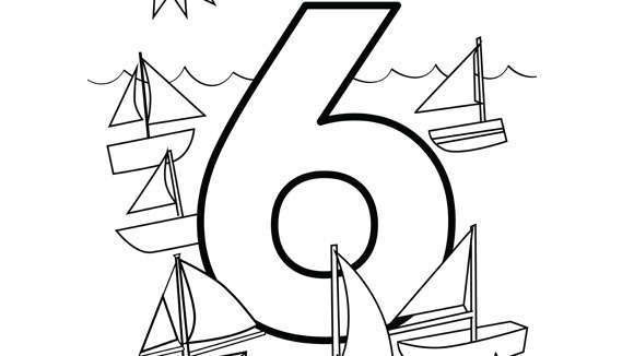 help your grandkids practice numbers with this free printable coloring page
