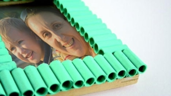 Easy Paper Ripple Frame - Grandparents.com
