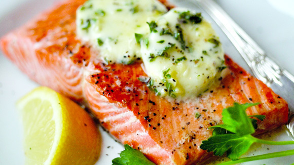 ... salmon with spring herb sauce grilled salmon fillets with herb butter