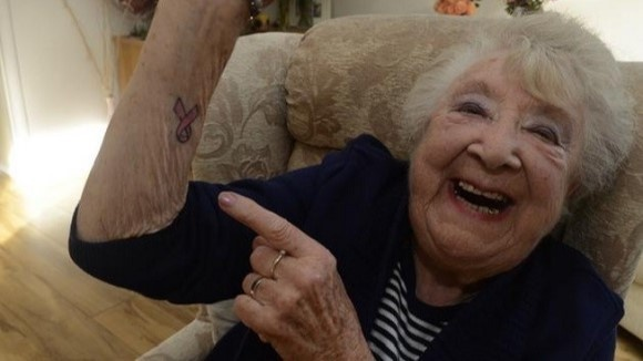 Grandma Celebrates Her Victory Over Cancer With A Tattoo