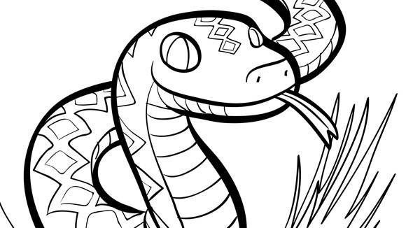 Snake for Rattlesnake coloring pages