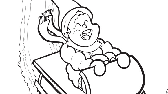 the grandkids will love this free printable winter coloring page