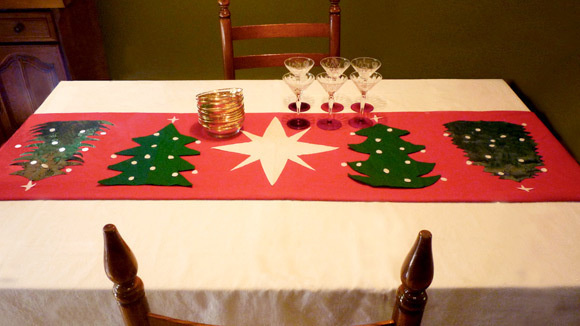 Enliven Your Christmas Table With A Festive, Homemade Table Runner.